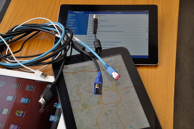 Photo of tablets and cables