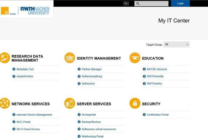 Screenshot vom My IT Center-Portal