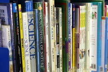 Photo of books on the shelf