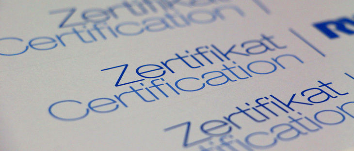 The word Certification written on a piece of paper